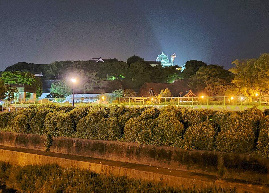 夜の熊本城周辺を歩いて見えた景色-2
