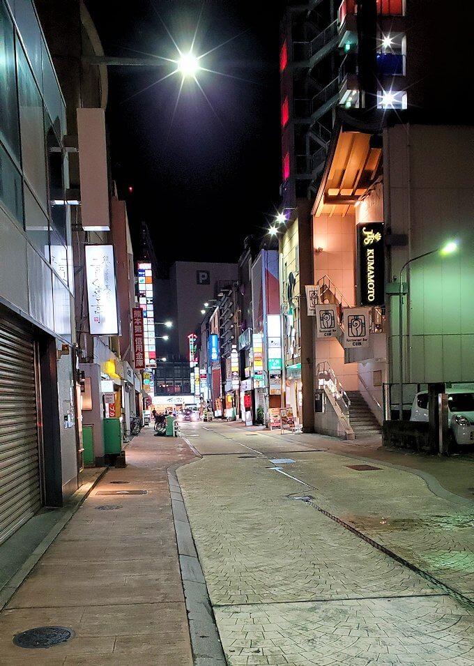 夜の熊本市内繁華街を歩く-4