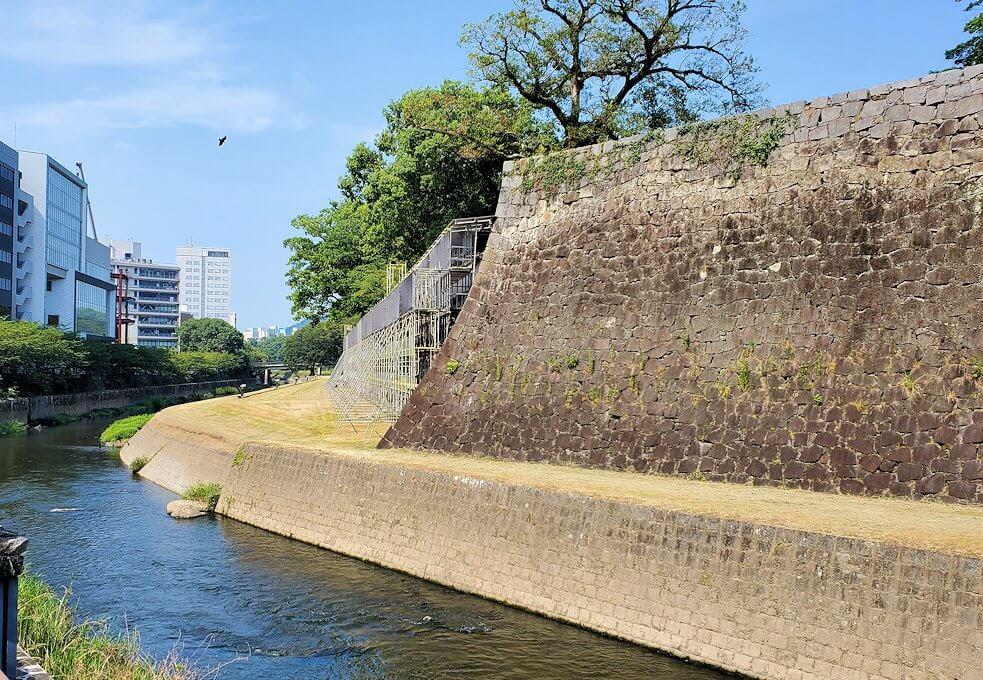 熊本城の長堀の景色