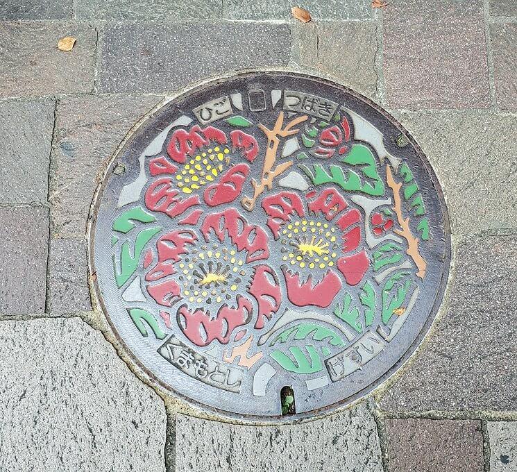 熊本城近くのマンホール