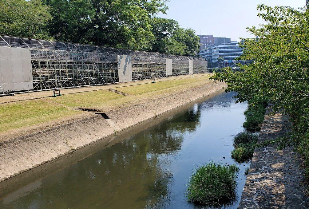 熊本城の長堀の景色-1