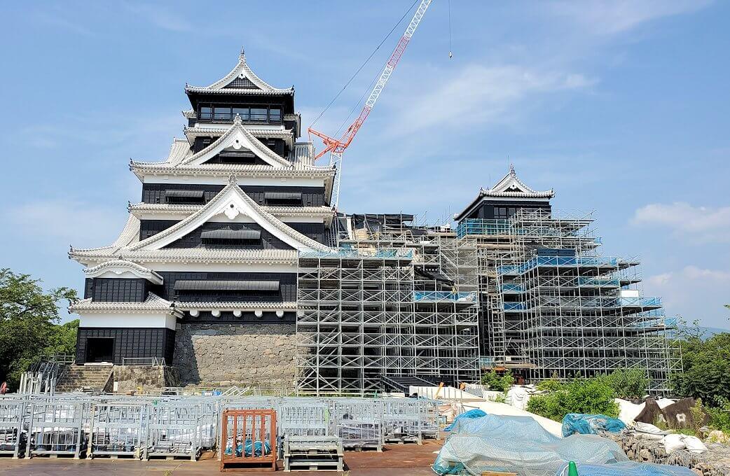 熊本城天守閣の大小天守閣揃い踏み