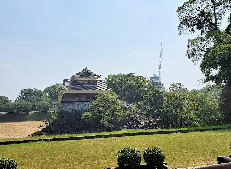 熊本城の北西部分に到着