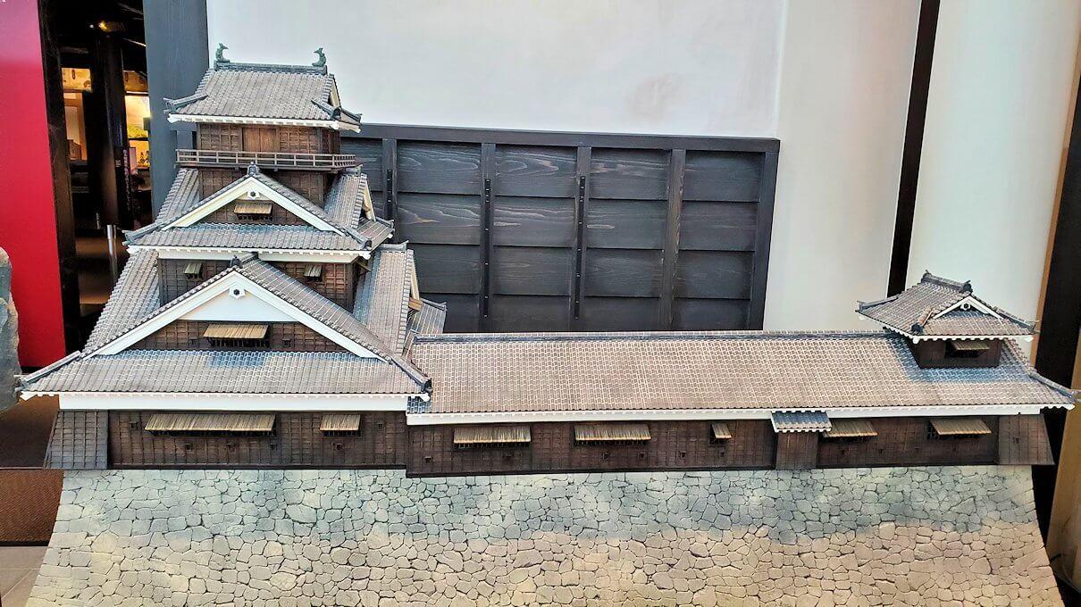 熊本城敷地のわくわく座内に置かれていた、城の模型