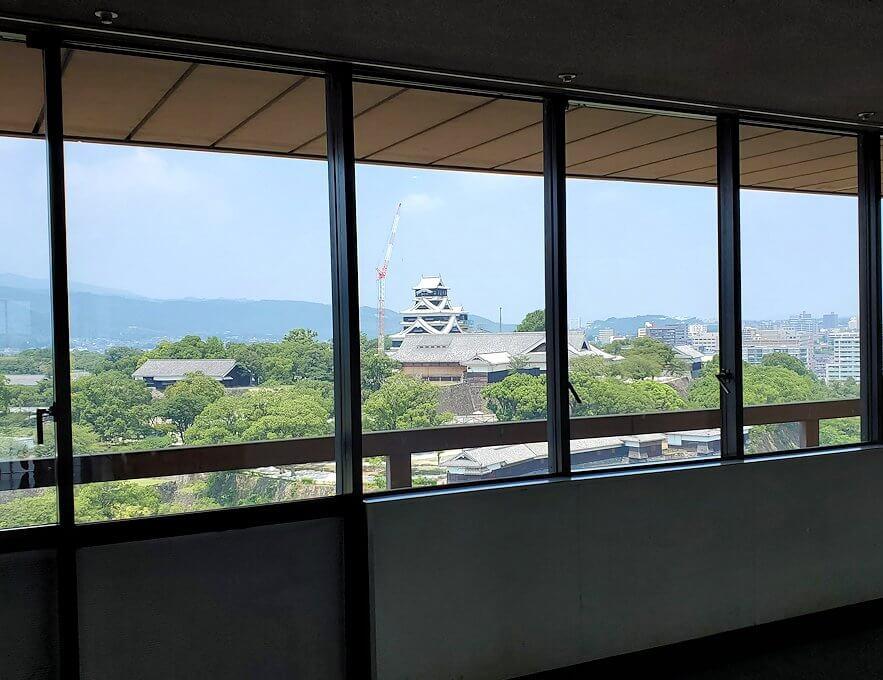 熊本市役所の展望台フロア