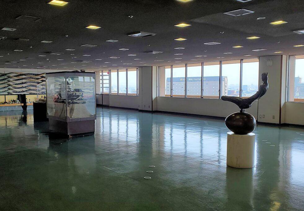 熊本市役所の展望台フロアの様子