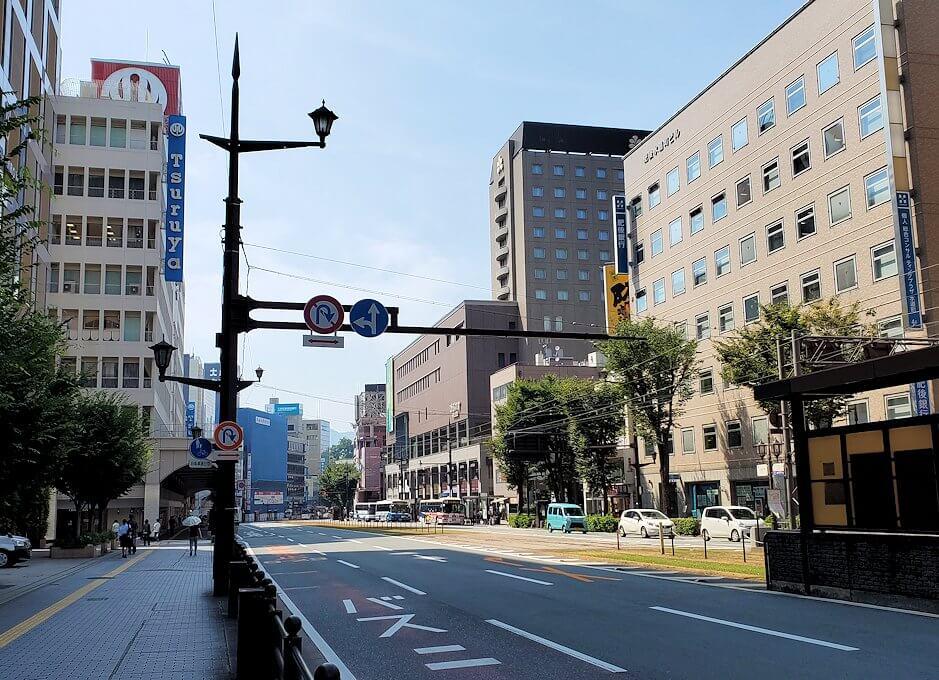 熊本市内の道路