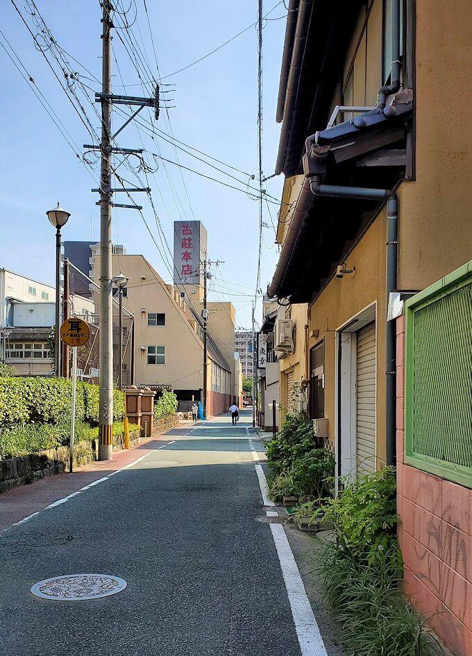 熊本市内を歩いて移動する