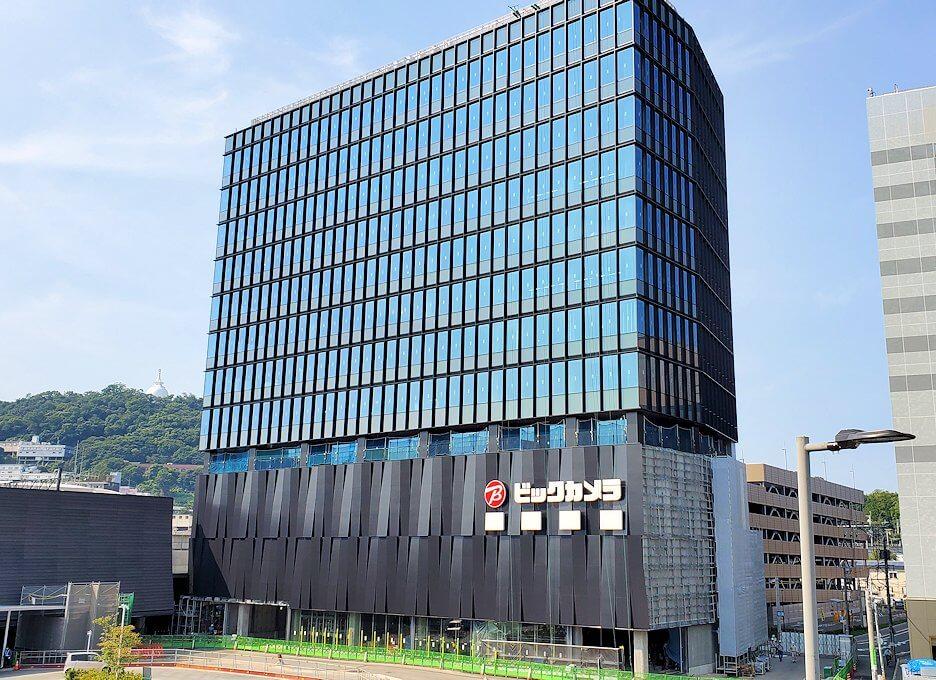 熊本駅前の建設中の建物