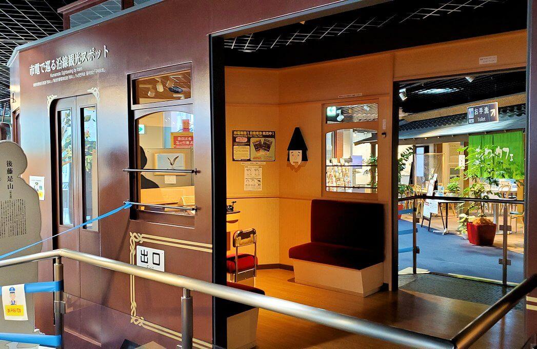 「くまもと森都心プラザ」にある郷土情報センターにあった市電のブース-1