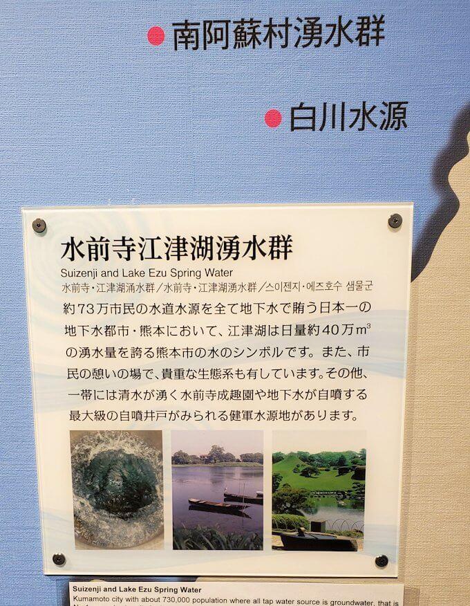 「くまもと森都心プラザ」にある郷土情報センターにあった熊本県の水についての勉強-3