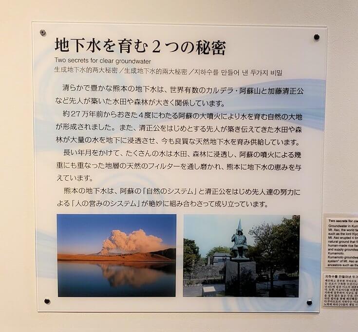 「くまもと森都心プラザ」にある郷土情報センターにあった熊本県の水についての資料