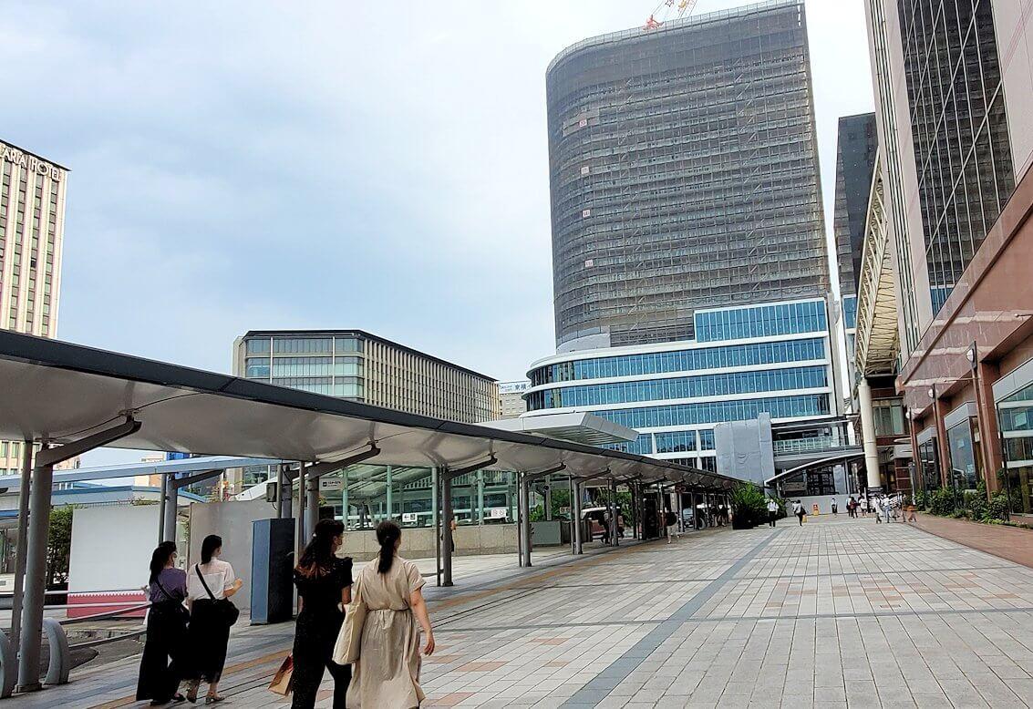 鹿児島中央駅の東口周辺の景色