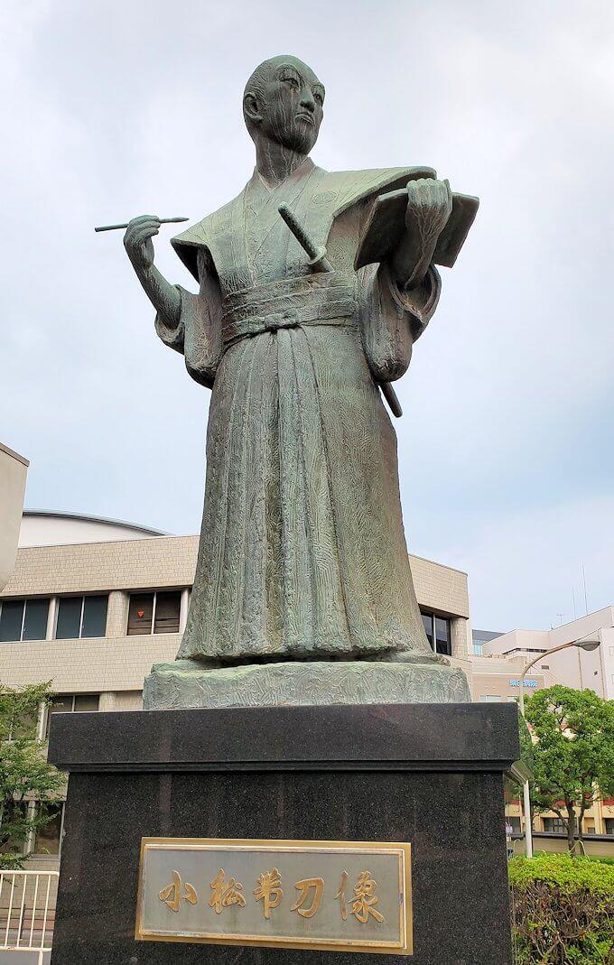 鹿児島市内にある、小松帯刀の像-1