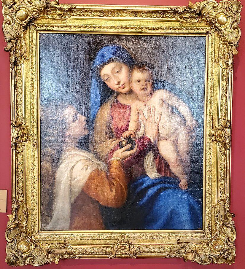 『聖母子とマグダラのマリア』 by ティツィアーノ・ヴェチェッリオの絵画