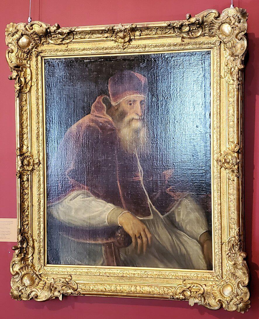 『教皇パウルス3世の肖像』 by ティツィアーノ・ヴェチェッリオの絵画