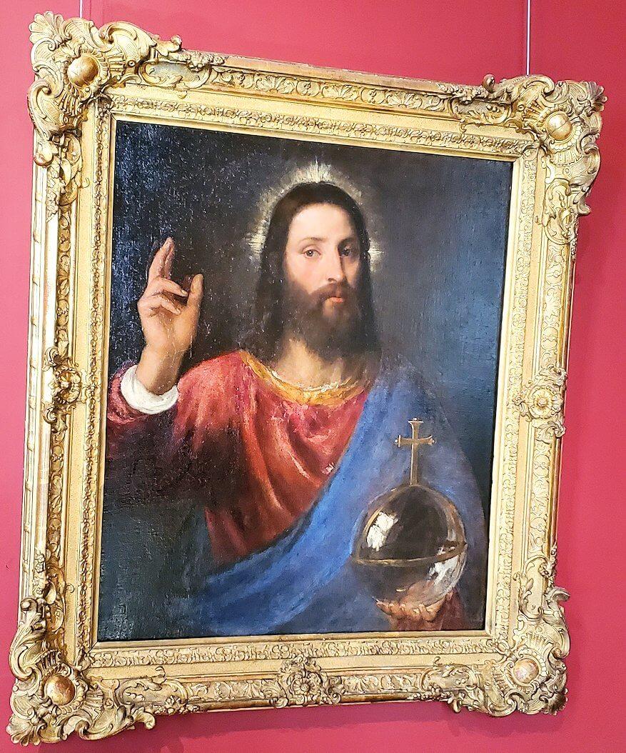 『祝福するキリスト』 by ティツィアーノ・ヴェチェッリオの絵画