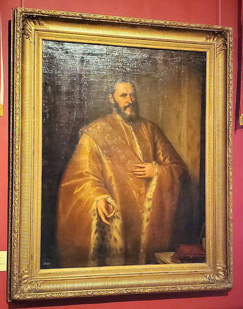 『カペッロ家上院議員の肖像』 by ティツィアーノ・ヴェチェッリオの絵画