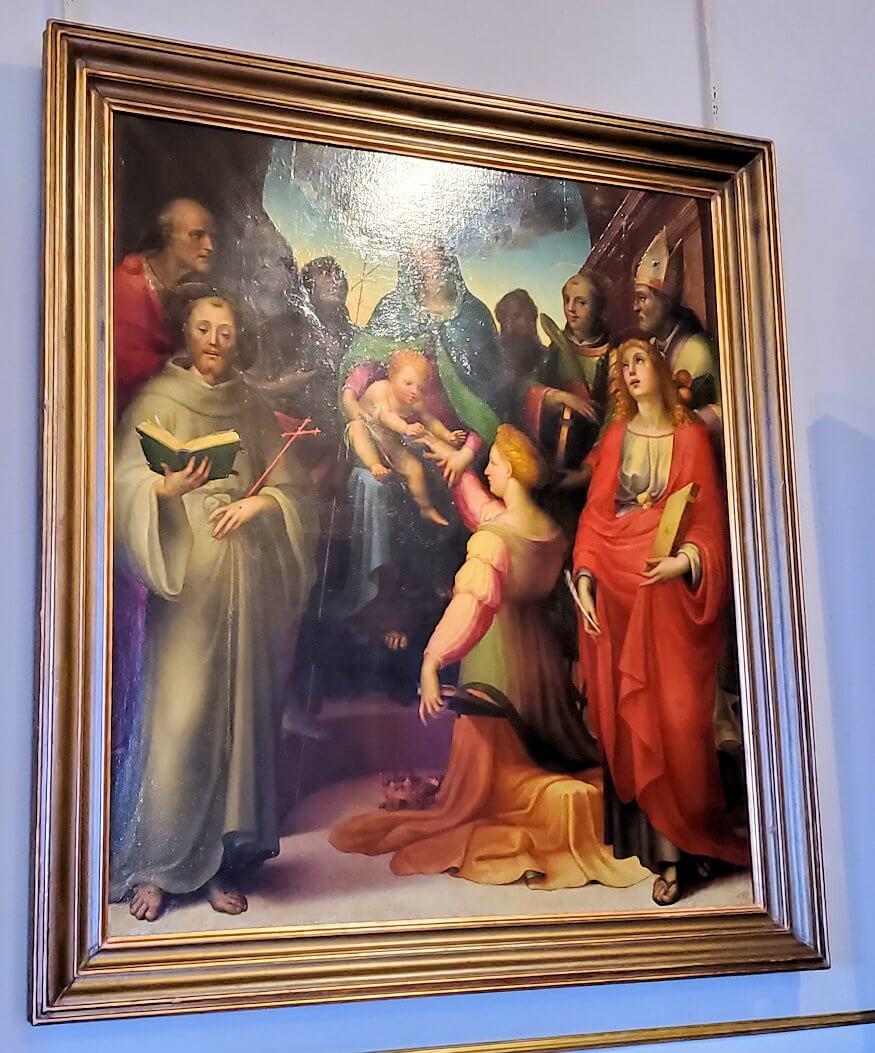 『聖カタリナの神秘的な結婚 by ドメニコ・ディ・パーチェ・ベッカフーミの絵画
