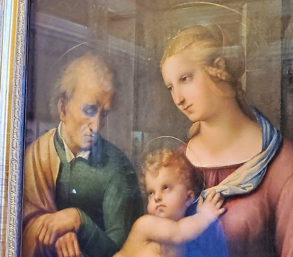 『聖家族』(Madonna with Beardless St. Joseph) by ラファエロ・サンティ(Raffaello Santi)-2