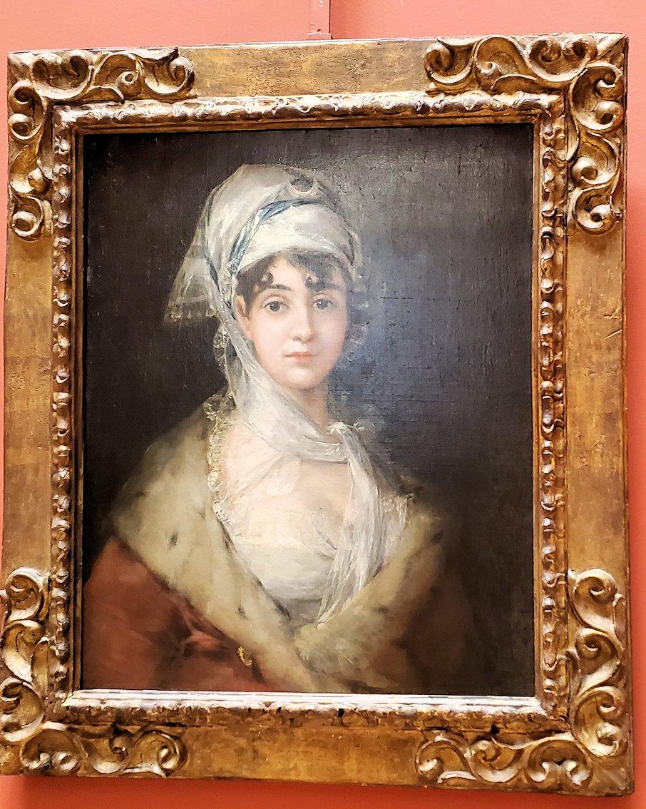 『ドニャ・アントニア・サラテの肖像画』(Portrait of Doña Antonia Zárate) by フランシスコ・デ・ゴヤ工房