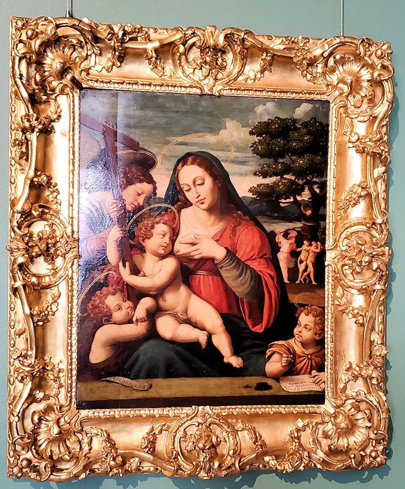 『聖母子と洗礼者ヨハネと福音記者ヨハネと天使』 by ヴィチェンテ・ホアン・マシップ