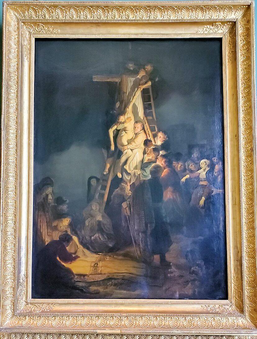 『十字架降架』 (Descent from the cross) by レンブラント・ファン・レイン