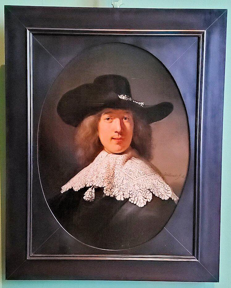 『レースの襟を持つ若い男の肖像』 (Portrait of a Young Man with a Lace Collar) by レンブラント・ファン・レイン