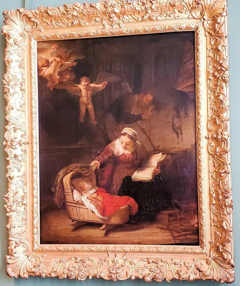 『天使のいる聖家族』 (The Holy Family) by レンブラント・ファン・レイン