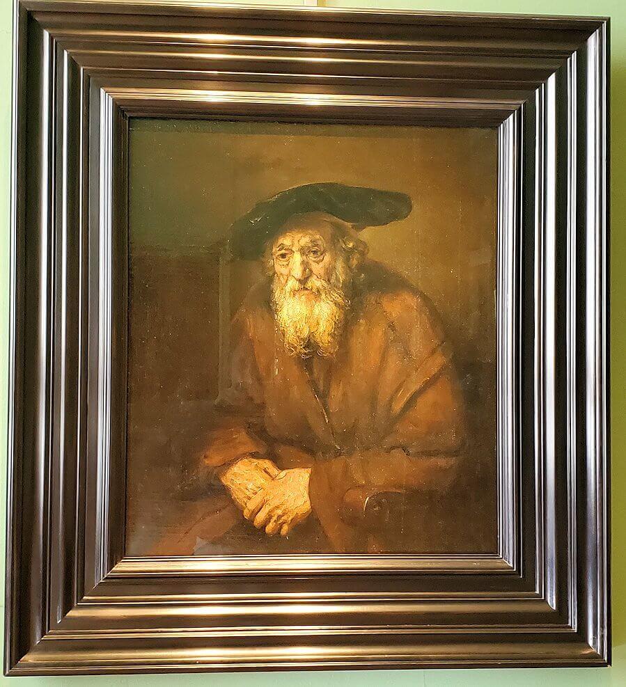 『ユダヤ人の老人の肖像画』 (Portrait of an Old Jew) by レンブラント・ファン・レイン