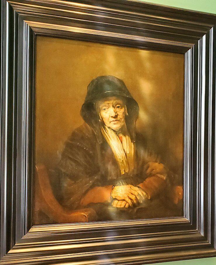 『老婦人の肖像』 (Portrait of an Old Woman) by レンブラント・ファン・レイン
