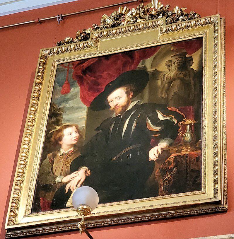 『息子アルベールとルーベンスの肖像』 (Portrait of Rubens with his Son Albert) by ピーテル・パウル・ルーベンス工房