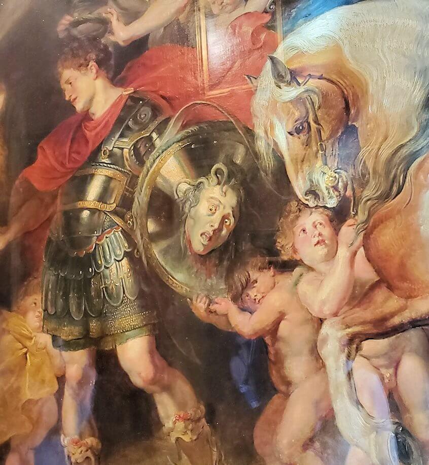 『ペルセウスとアンドロメダ』 (Perseus Liberating Andromeda) by ピーテル・パウル・ルーベンス(Peter Paul Rubens)のドアップ