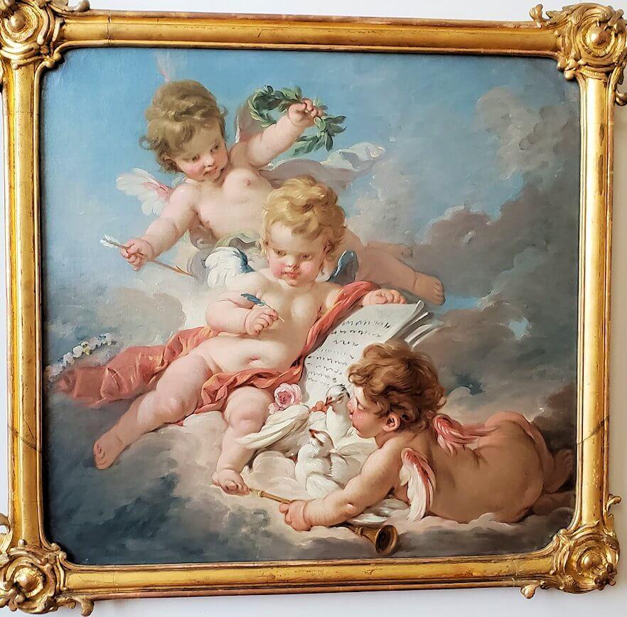 『キューピッド、詩の寓意』 (Cupids. Allegory of Poetry) by フランソワ・ブーシェ
