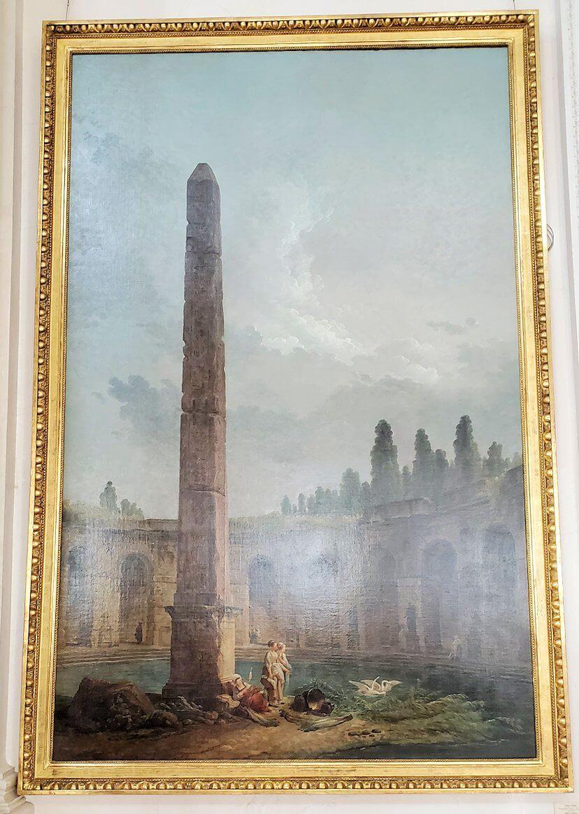 『オベリスクのある風景』 (Decorative Landscape with an Obelisk) by ユベール・ロベール