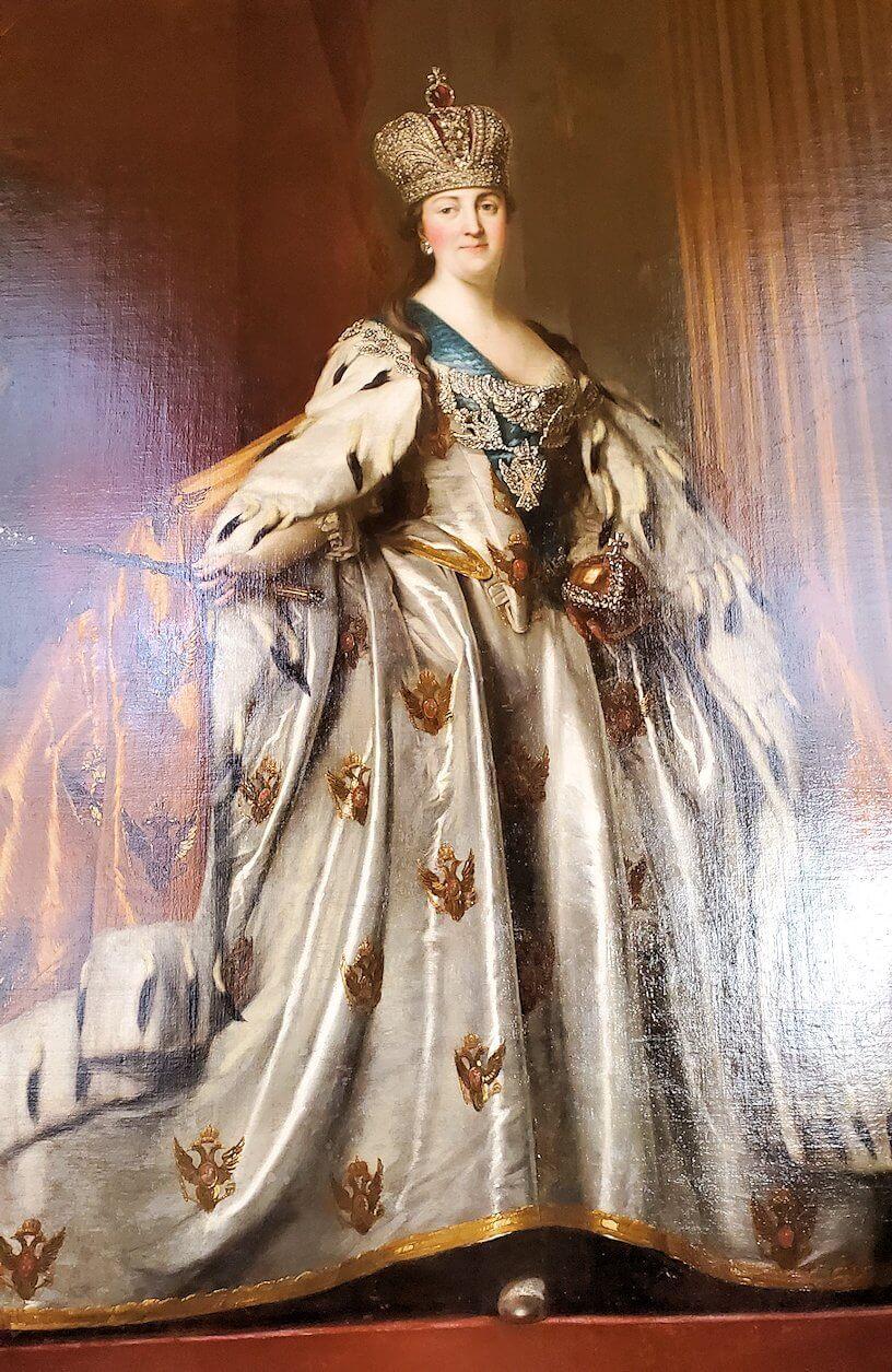 『戴冠式のローブを着たエカテリーナ2世』 (Portrait of Catherina the Great in Her Coronation Robes) by ウィギリウス・エリクセン