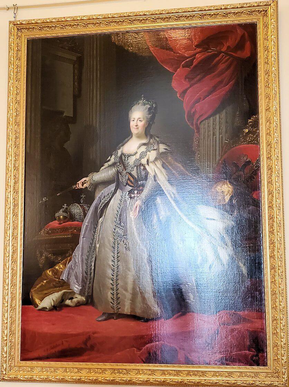 『エカテリーナ2世(大帝)の肖像』 (Portrait of Empress Catherina the Great) by フョードル・ロコトフ