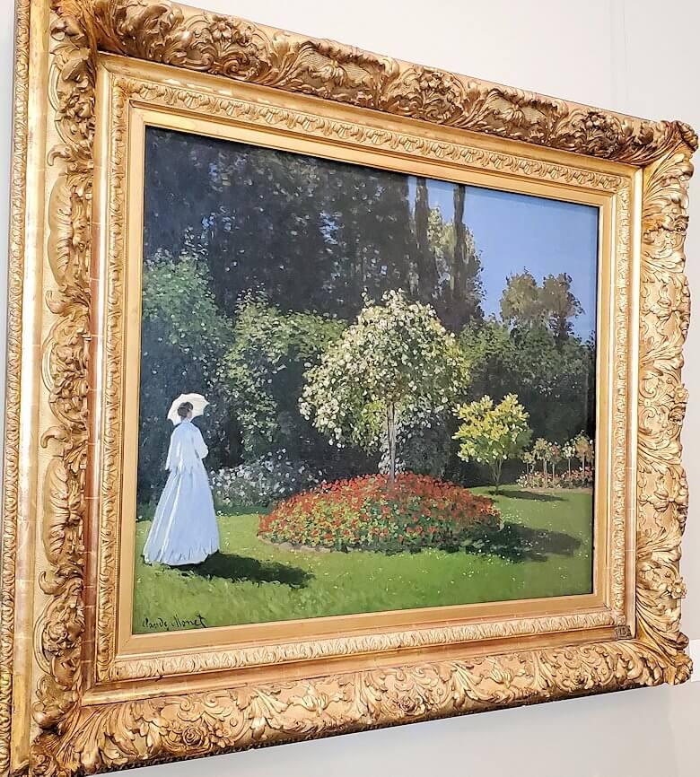 『サンタドレス庭園の女』 (Woman in the Garden.Sainte-Adresse) by クロード・モネ