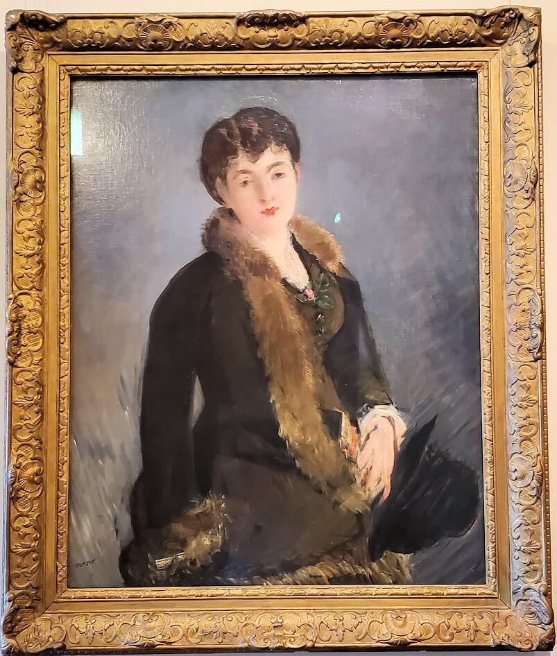 『イザベル・ルモニエ嬢の肖像』 (Portrait of Miss Isabelle Lemonnier) by エドゥアール・マネ
