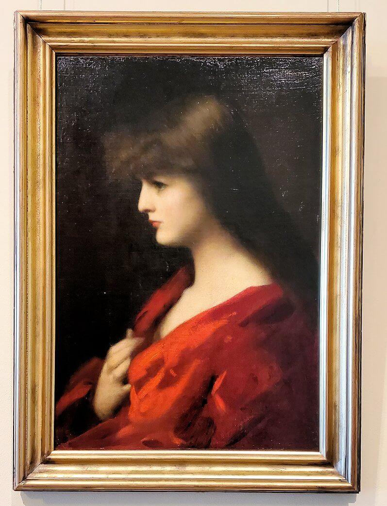 『赤の女性の研究』 (Study of a Woman in Red) by ジャン=ジャック・エンネル