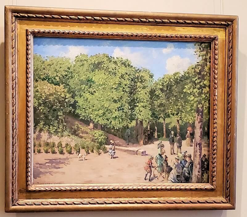 『ポントワーズ公園』 (Town Park in Pontoise) by カミーユ・ピサロ