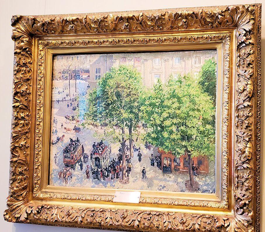 『フランセーズ劇場広場の春』 (Place du Theatre-Francais. Spring) by カミーユ・ピサロ