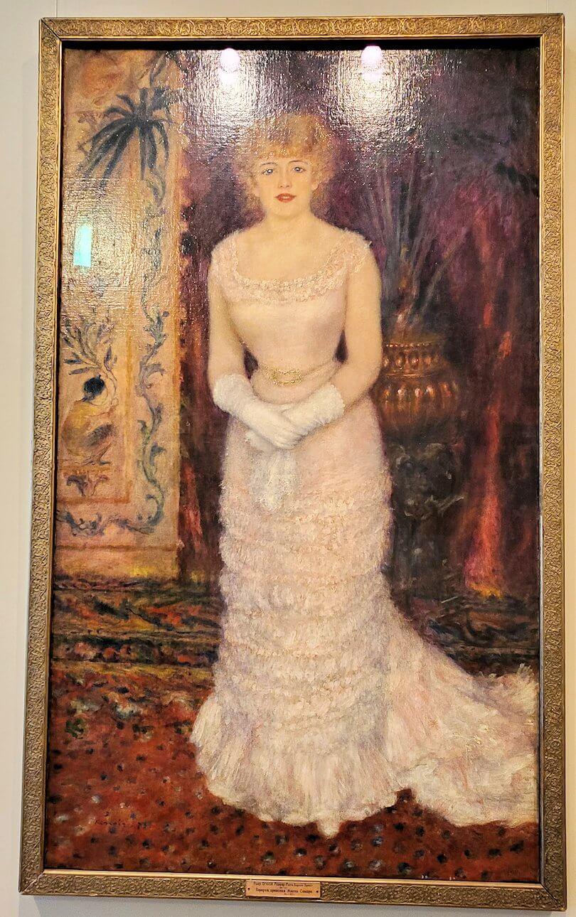 『女優ジャンヌ・サマリーの肖像』 (Portrait of the actress Jeanne Samary) by ピエール・オーギュスト・ルノワール