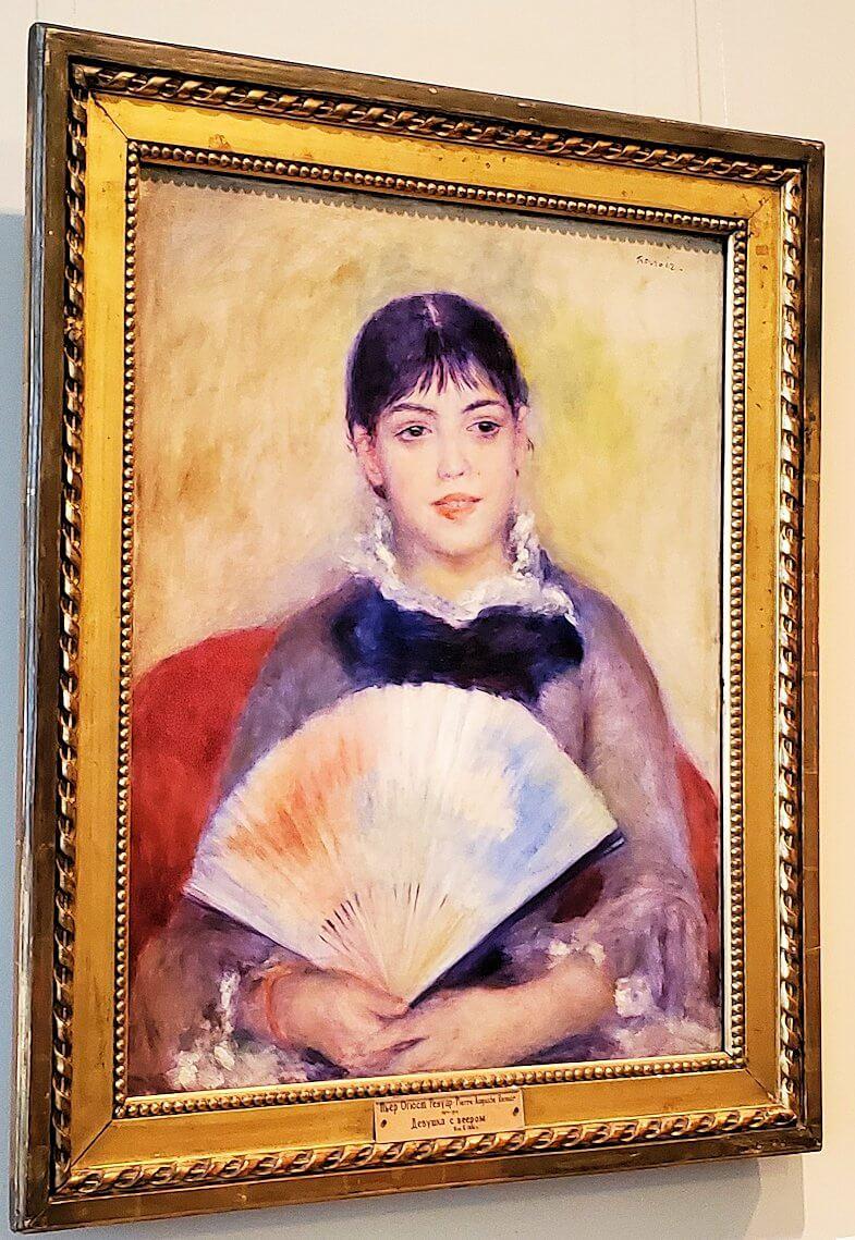 『扇を持つ女性』 (Woman with fan) by ピエール・オーギュスト・ルノワール
