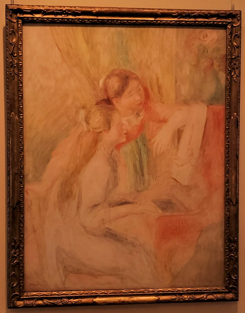 『ピアノを弾く少女たち』 (Young Girls at the Piano) by ピエール・オーギュスト・ルノワール