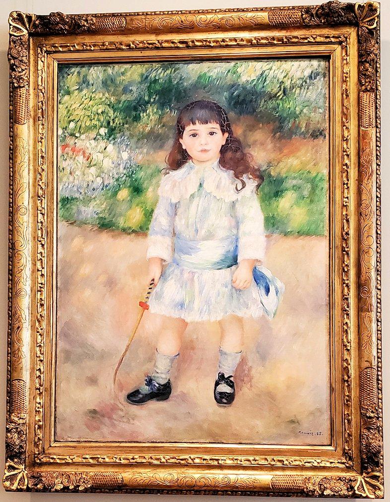 『鞭を持つ子供』 (Child with a Whip) by ピエール・オーギュスト・ルノワール