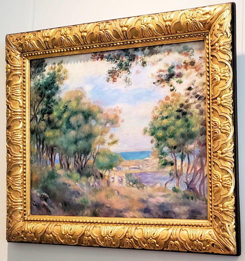 『ボーリュー村の景色』 (Landscape at Beaulieu) by ピエール・オーギュスト・ルノワール
