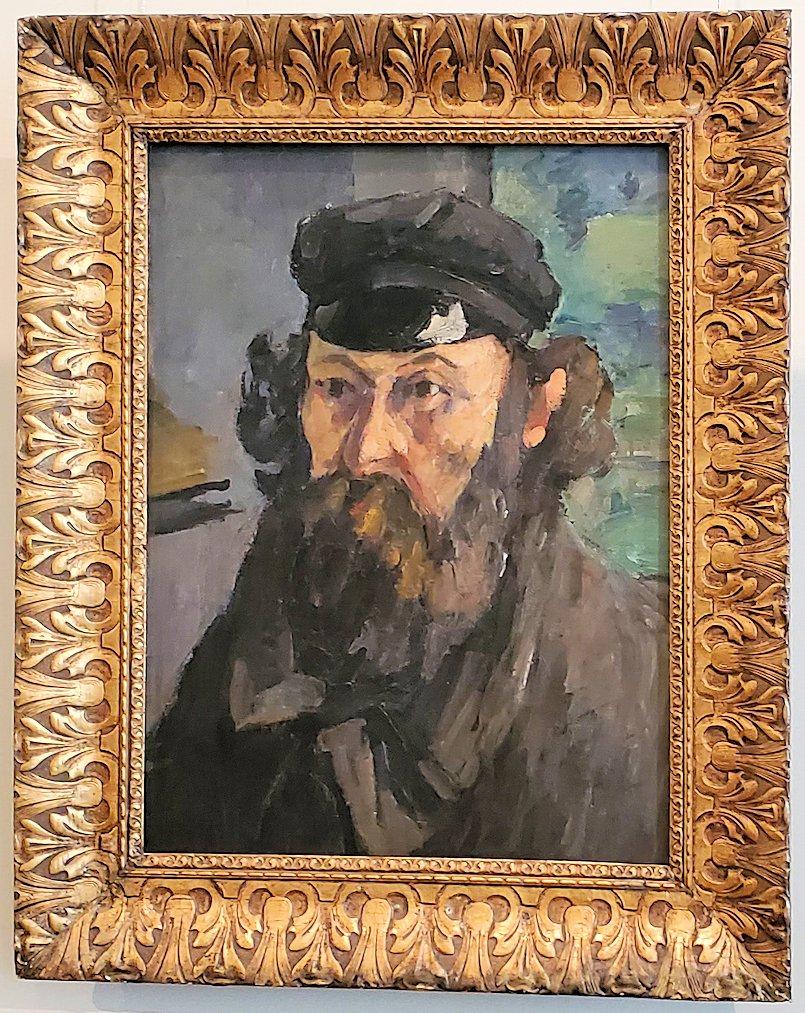 『帽子を被った自画像』 (Self Portrait in a Casquette) by ポール・セザンヌ