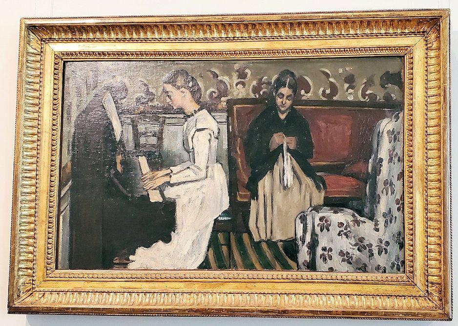 『ピアノを弾く若い娘:タンホイザー序曲』 (Girl at the piano; Tannhäuser-Ouverture) by ポール・セザンヌ