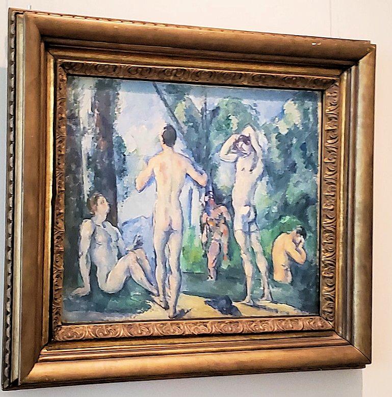 『大浴場』 (Bathers) by ポール・セザンヌ